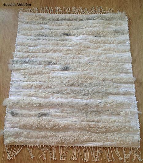 Jeansmatta med lammskinn, trasmatta – Cointreau